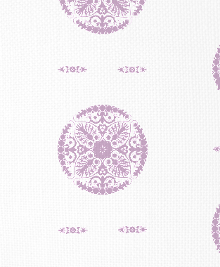 Tillett Textiles Medallion Violet