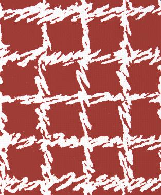 Tillett Textiles Burlap Blotch Deep Coral