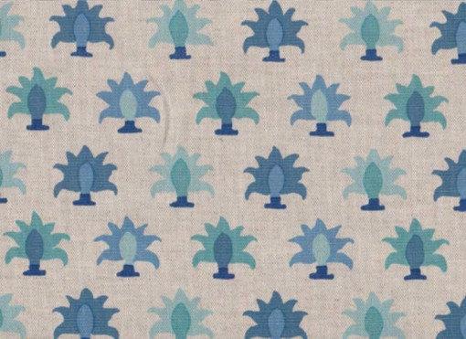 Mally Skok Rohet Flora Blue on Natural