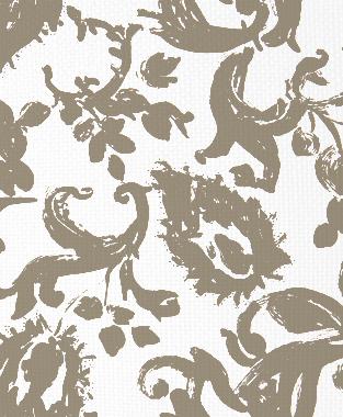 Tillett Textiles Painted Paisley Putty