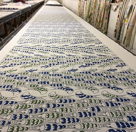 Tillett Textiles Puzzlefish Kelly Green and Blue