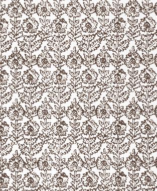 Tillett Textiles Sunflower Woodcut Cocoa