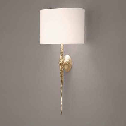 Torchère wall lamp Gold