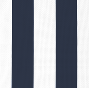 Vertical Stripe Navy on White