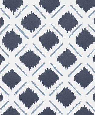 Tillett Textiles Chit Chat Lines JD Blue & Navy