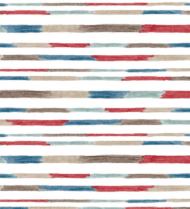 Ferran Textiles Murano Indigo Red