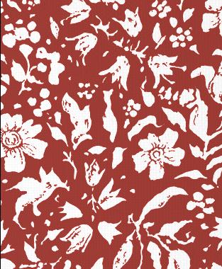 Tillett Textiles Wild Flower Blotch Deep Coral
