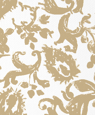 Tillett Textiles Painted Paisley Kahki