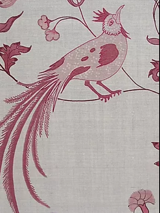 BIRD SONG Pink UK Natural Linen