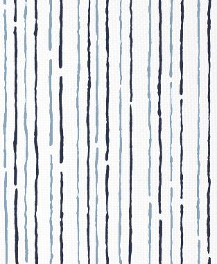 Tillett Textiles Sumac Lines Navy & JD Blue