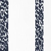 Ocelot Stripe Navy on White