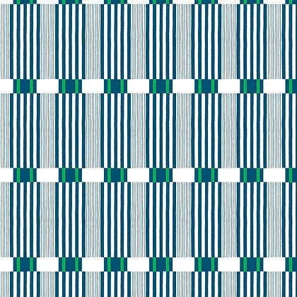 Check Stripe Indigo Emerald