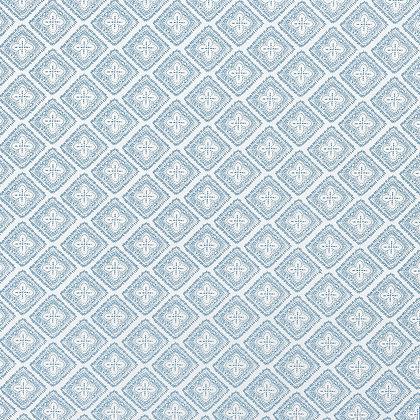 CASA BY P.C. AZZAR LIGHT BLUE ON WHITE WALLPAPER