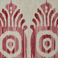 Serena Ikat Pink & Red Natural