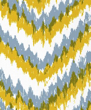Tillett Textiles Ikat Timer Maize & JD Blue