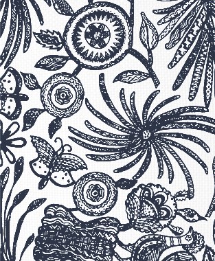 Tillett Textiles Ixtaplauca Navy
