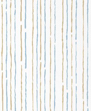 Tillett Textiles Sumac Lines Khaki & Sky