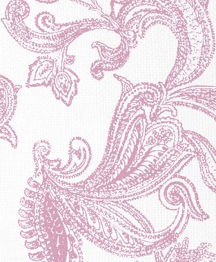 Tillett Textiles Kingston Paisley Pink Pansey