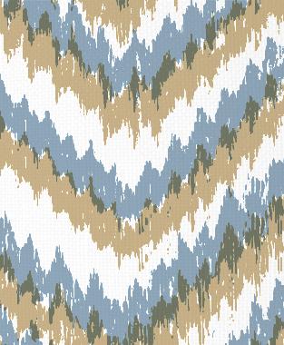 Tillett Textiles Ikat Timer JD Blue & Khaki