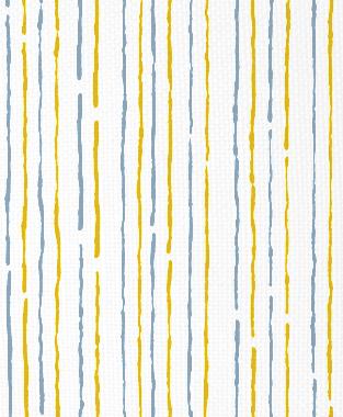 Tillett Textiles Sumac Lines Maize & JD Blue