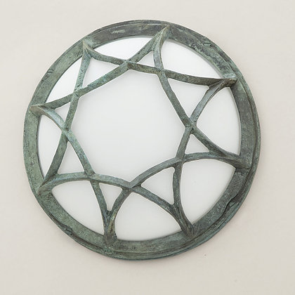 Gaia Outdoor Wall Lamp Green Bronze