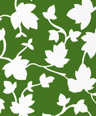 Ivy Blotch Forest Green on White