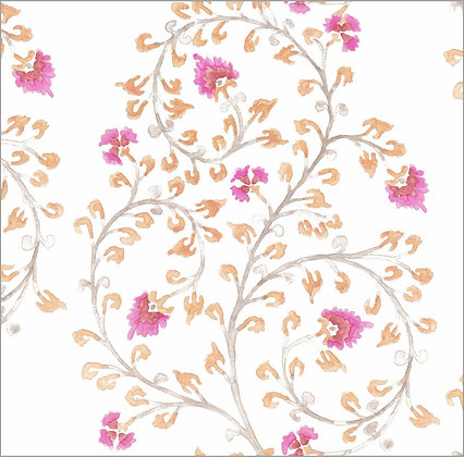 Ferran Textiles Wallpaper Indienne Geranium