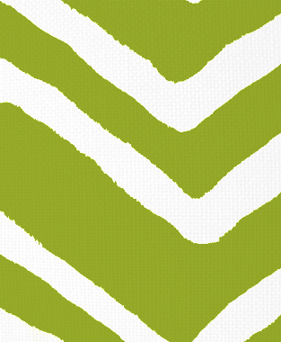 Tillett Textiles Ikat Chevron Dark Lime