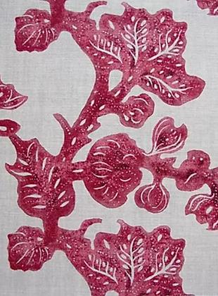 FRUITING FIG Crimson UK Natural Linen