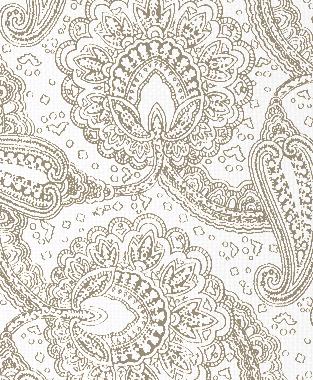 Tillett Textiles Paisley Envinced Putty