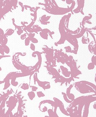 Tillett Textiles Painted Paisley Pink Pansey