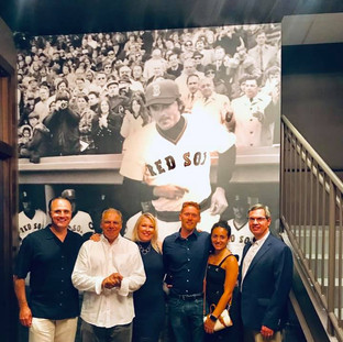 Press release at Fenway Park Green Monster
