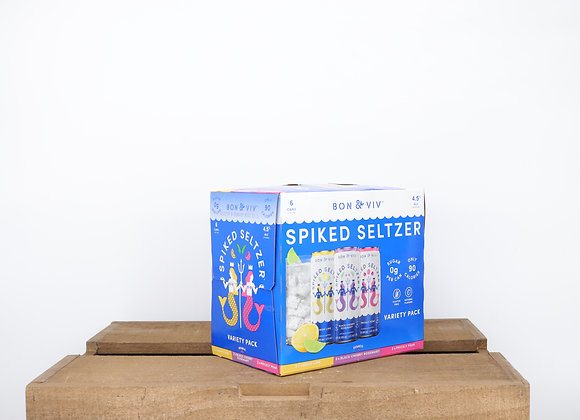 Bon and Viv Spiked Seltzer Variety 6-pack