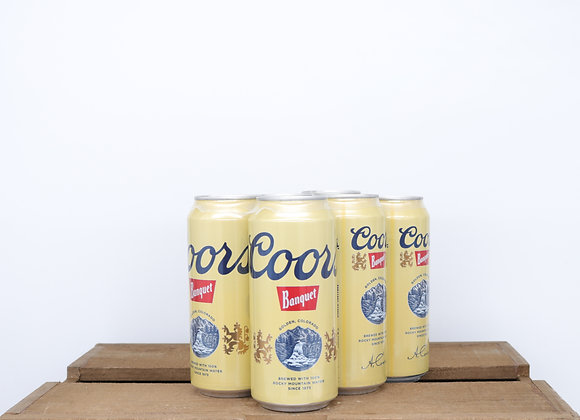 Coors Banquet 16oz Cans 6-pack