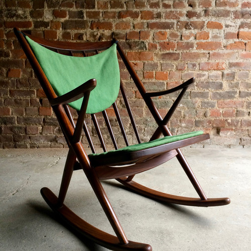 Danish Frank Reenskaug Model182 Walnut Rocking Chair By Bramin Mobler Circa  1960