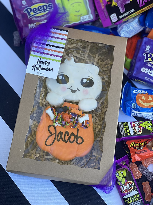 Cutie ghost with treats- 2 pc set PERSONALIZED