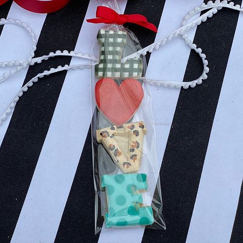 LOVE mini cookie set