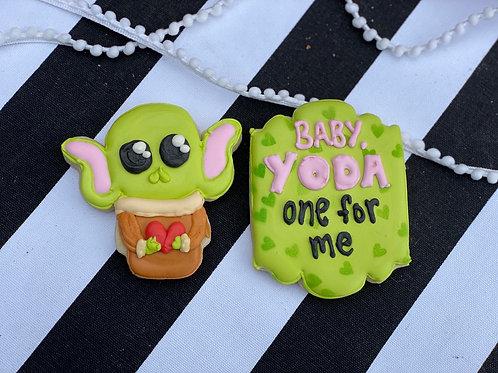 Baby Yoda 2pc Cookie Set