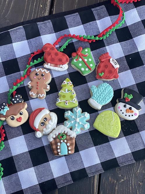 Christmas mini cookies- 1 dozen set