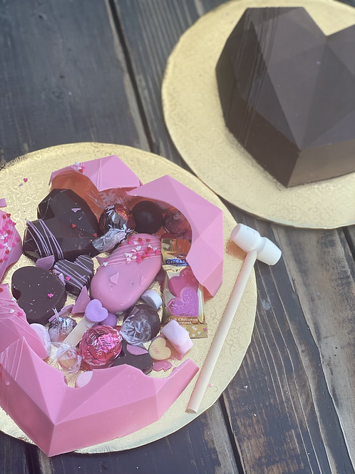 Breakable valentine heart