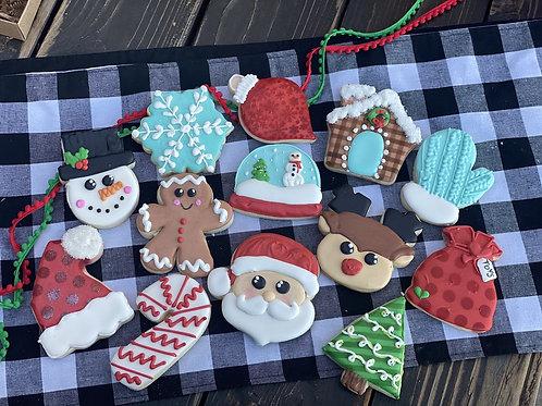 Classic Christmas cookies- 1 dozen set