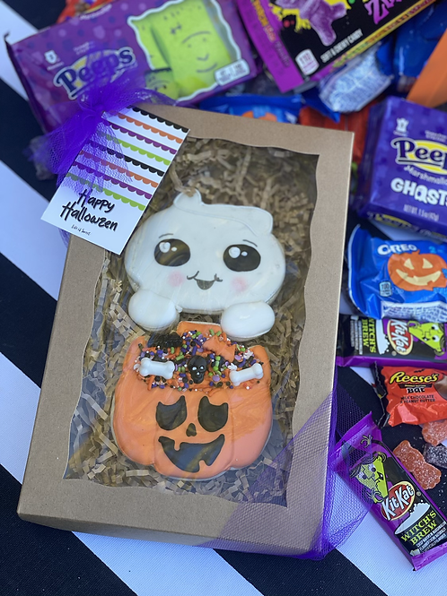 Cutie ghost with treats- 2 pc set