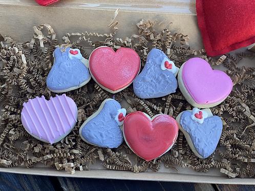 Mini hearts and kisses 12pc set