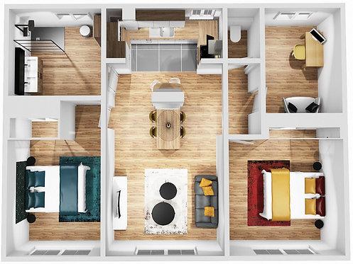 """Offre appartement Complet - Limité jusqu'à 100 m2 """"package inclus"""""""