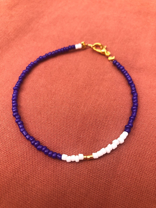 Armcandy - blue, white, gold