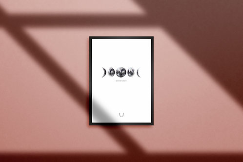 Poster 'Good Night' - Moon Phases