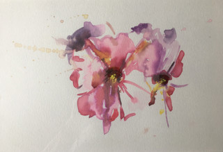 """Watercolor, on paper 13"""" x 9"""""""