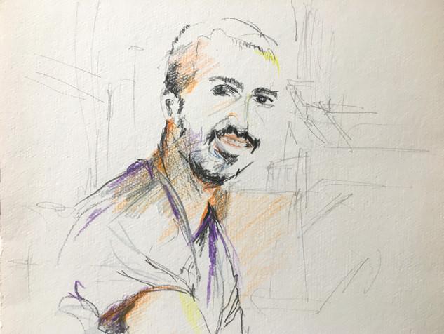 "In Jaffa, 2013 Pencils, on paper 11"" x 10"""