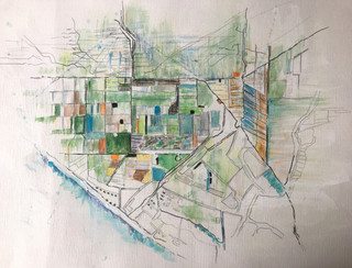"~ SOLD ~ Oxnard, 2015 Pencils, on paper 16"" x 12"