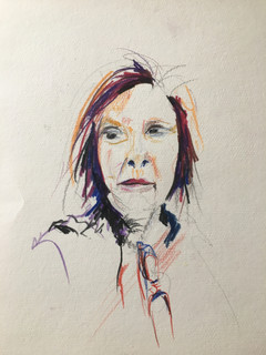 """Ornella, 2014 Pencils, on paper 11"""" x 10"""""""